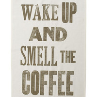Wake Up And Smell The Coffee Tea Towel (?9.00) - Hunkydory Home