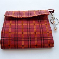 Wallet Soft Cotton Plaid Fall Autumn | kathisewnsew - Bags & Purses on ArtFire