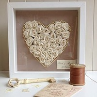 Ivory Rose Heart Custom Artwork