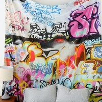 Graffiti Tapestry - Urban Outfitters