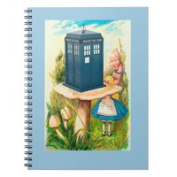 Alice in Wonderland Funny Call Box Notebook