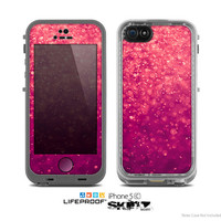 The Unfocused Pink Glimmer Skin for the Apple iPhone 5c LifeProof Case