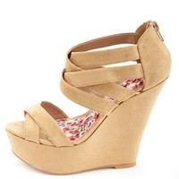 Strappy Ankle Cuff Platform Wedge Sandals