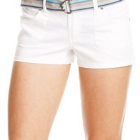 2b Striped Belt Cotton Short