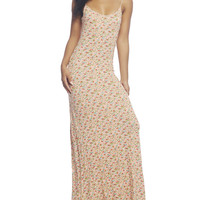 Ditsy Rose Slip Maxi Dress | Wet Seal