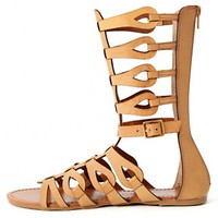 Bamboo Sawyer-03 Caged Gladiator Sandals | MakeMeChic.com