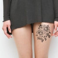 Twin Rose Temporary Tattoo Set