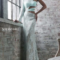 Asymmetrical Cutout Gown by Sherri Hill