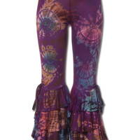 Ruffled Tie-Dye Pants: Soul Flower Clothing