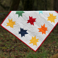 Wonky Star Baby Quilt with Pillowcase