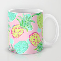 Pineapple Pandemonium Tropical Spring Mug by Lisa Argyropoulos | Society6