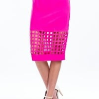 On The Grid Cut-Out Skirt
