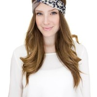 Cheetah Colorblock Print Twist Headband