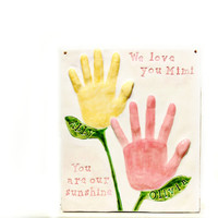 Flower Handprints for Mother and Father Day Gifts