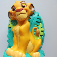 Vintage Simba Lion King Plastic Bank 1994