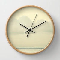 White Wall Wall Clock by RichCaspian | Society6