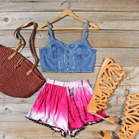Beach Gypsy Shorts in Pink
