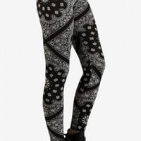 Black Bandana Leggings by See You Monday
