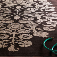 &quot;Luciana Scrolls&quot; Indoor/Outdoor Rug - Horchow