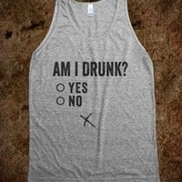 Am I Drunk?-Unisex Athletic Grey Tank
