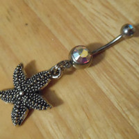 Belly Button Ring  Starfish Belly Button Ring by ChelseaJewels