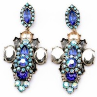 Faced Faux Stone Drop Earrings - OASAP.com