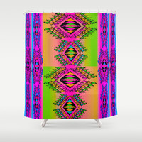 Neon Erkkat Shower Curtain by Nina May