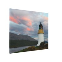 Sunset Lighthouse Inverscaddle Bay Loch Linnhe Sco