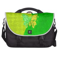 Neon Two Tone Butterfly in yellow and green