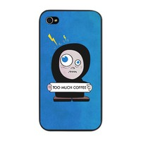 Funny Cartoon Character Coffee iPhone Snap Case