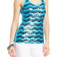 2b Chevron Sequins Tank