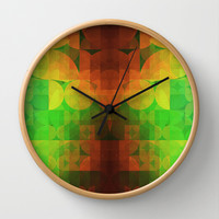 Spring Wall Clock by SensualPatterns