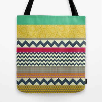New York Beauty stripe Tote Bag by Sharon Turner | Society6