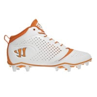 Warrior Burn Speed 5.0 Lacrosse Cleats in Orange and White | Lacrosse Unlimited