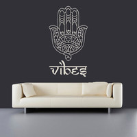 Wall Decal Vinyl Sticker Decals Art Decor Design Hamsa Hand yin yang Sign Indian Buddha Ganesh Lotos Modern Bedroom (r496)