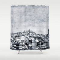 A Ribeira Shower Curtain by ingz
