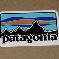PATAGONIA RETRO COLOR STICKER DECAL CLOTHING FISHING TROUT TARPIN HIKE CAMP NEW