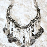 DRIPPING COIN NECKLACE