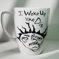Beyonce, I Woke Up Like Dis Meme inspired humorous, funny, novelty, gift
