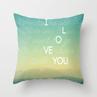 Adventures and I Love You Throw Pillow by RichCaspian | Society6
