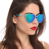 Blue Heart Sunglasses