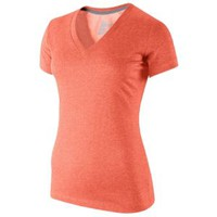 Nike Slim Fit Dri-Fit Cotton V-Neck T-Shirt - Women's at Lady Foot Locker