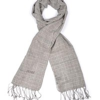 Gianfranco FERRE 100% Cotton Plaid Print Scarf Made In Italy - 			        	Mother's Day Gifts: Jewelry & Watches