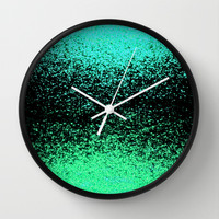 dissapearing sparkly cat Wall Clock by Marianna Tankelevich