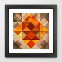 Burning Framed Art Print by SensualPatterns
