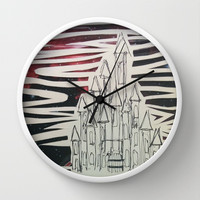 Cosmic Castle Wall Clock by Peyton Rack