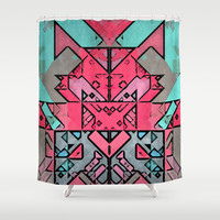 Robot Shower Curtain by SensualPatterns