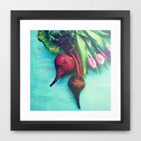 The Beet Goes On - Red Beet Framed Art Print by Olivia Joy StClaire