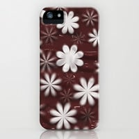 Melted Chocolate and Milk Flowers Pattern iPhone & iPod Case by Bluedarkat Lem