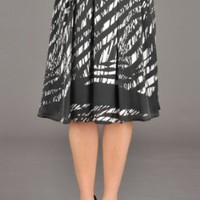Womens Broken Diagonal Stripe Satin Chiffon Skirt